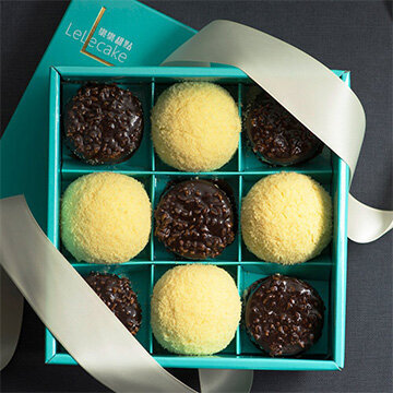 【樂樂派對禮盒】脆皮提拉米蘇+初雪乳酪蛋糕(9入/盒)
