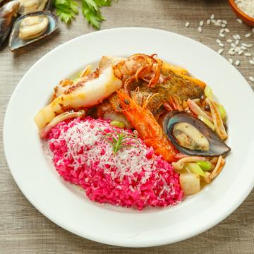 甜菜根海鮮燉飯(三入組)
